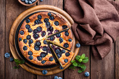 Blueberry cake. With fresh berries royalty free stock images