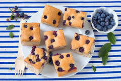 Blueberry cake Stock Photography