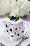 Blueberry cake with sour cream Stock Photos