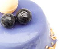 Blueberry cake with white chocolate Stock Photos