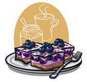 Blueberry cakes Royalty Free Stock Photos