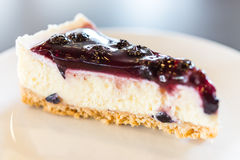 Blueberry cheese cake Royalty Free Stock Images