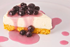 Blueberry cheese pie Royalty Free Stock Image