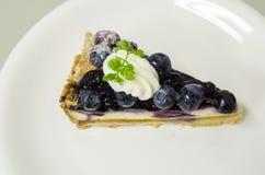 Blueberry cheese pie stock image