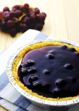Blueberry cheese pie. On wood table royalty free stock photo