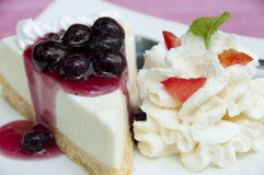 Blueberry cheese pie. Royalty Free Stock Images