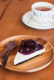 Blueberry cheese pie Stock Photography