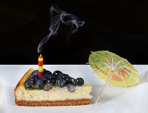 Blueberry cheesecake Stock Photography
