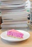 Blueberry cheesecake Stock Photos