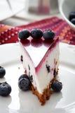 Blueberry cheesecake Royalty Free Stock Photos