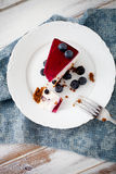 Blueberry cheesecake Royalty Free Stock Image