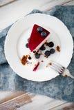 Blueberry cheesecake Royalty Free Stock Image