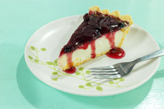 Blueberry cheesecake Royalty Free Stock Photo