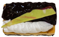 Blueberry cheesecake isolated on white background Stock Images