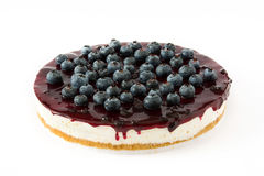 Blueberry cheesecake isolated Stock Photography