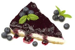 Blueberry cheesecake -  Manhattan style Royalty Free Stock Photo