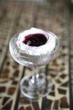 Blueberry cheesecake slice Stock Photos