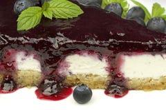 Blueberry cheesecake - ( Manhattan style ) Stock Photo