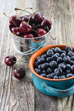 Blueberry and Cherry Stock Photos