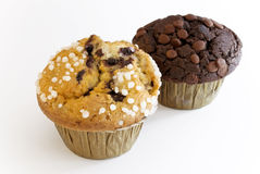 Blueberry and Chocolate Muffin. Muffins with blueberry and chocolate stock images