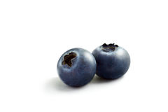 Blueberry. Close up view of nice fresh blueberry on white back Stock Image