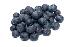 Blueberry close up on white Stock Images