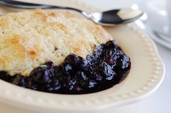 Blueberry Cobbler Stock Photography