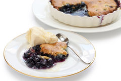 Blueberry cobbler Royalty Free Stock Photos
