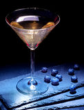 Blueberry cocktail  on black background 20 Stock Image