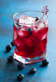 Blueberry cocktail Stock Image