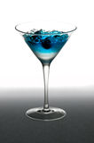 Blueberry cocktail in a martini glass Stock Images