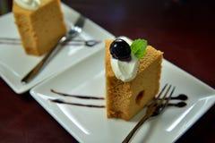 Blueberry coffee cake Stock Photo