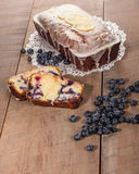Blueberry coffee cake loaf with blueberries Stock Photos
