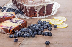 Blueberry coffee cake loaf with blueberries Stock Photo