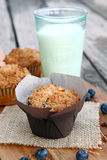 Blueberry Coffeecake Muffins Stock Photography