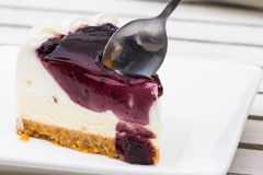 Blueberry Cream Cheese cake Royalty Free Stock Photo