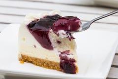 Blueberry Cream Cheese cake Stock Photos