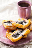 Blueberry Cream Cheese Danishes. Stock Photo