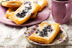 Blueberry Cream Cheese Danishes. Royalty Free Stock Photos
