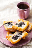 Blueberry Cream Cheese Danishes. Stock Photos