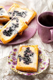 Blueberry Cream Cheese Danishes. Stock Photography