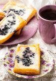 Blueberry Cream Cheese Danishes. Royalty Free Stock Photo