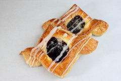 Blueberry and cream pastry Stock Photo