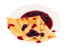 Blueberry Crepe royalty free stock photos