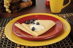 Blueberry crepes Stock Photography
