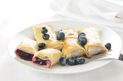 Blueberry crepes Royalty Free Stock Photography