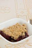 Blueberry crisp Royalty Free Stock Image