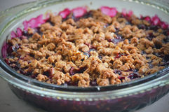 Blueberry Crisp Stock Photo