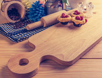 blueberry Crumb Cake on wood table Royalty Free Stock Photos