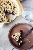 Blueberry crumble Royalty Free Stock Photos